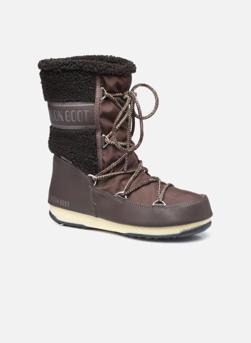 Chaussures de sport Moon Boot Moon Boot Monaco Wool Mid WP Marron vue détail/paire