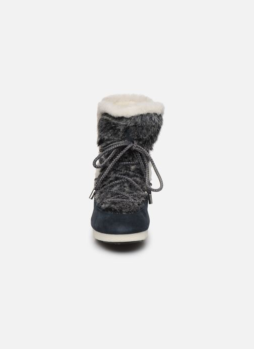 Scarpe sportive Moon Boot Moon Boot Far Side High Faux Fur Azzurro modello indossato