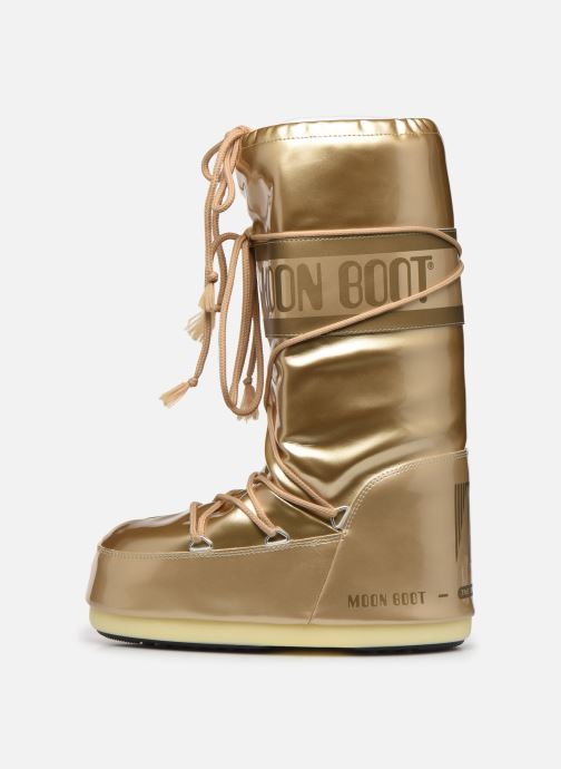 Sport shoes Moon Boot MB Vinil Met  Bronze and Gold front view