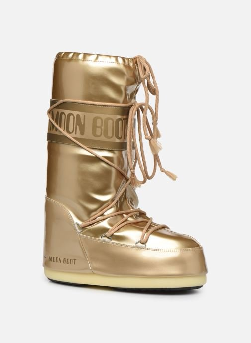 Sport shoes Moon Boot MB Vinil Met  Bronze and Gold detailed view/ Pair view