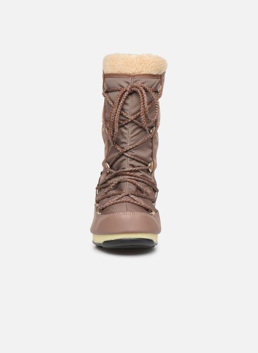 Scarpe sportive Moon Boot Moon Boot Monaco Wool WP Marrone modello indossato