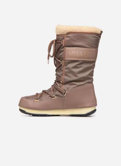 Sport shoes Moon Boot Moon Boot Monaco Wool WP Brown front view