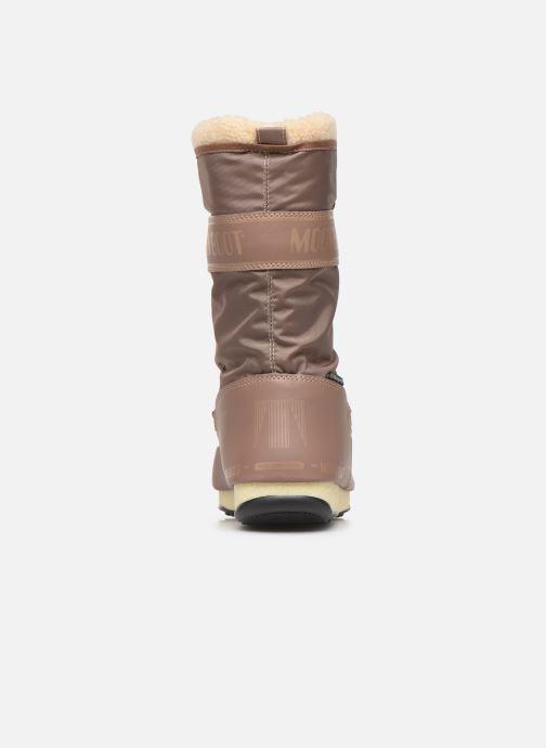 Zapatillas de deporte Moon Boot Moon Boot Monaco Wool WP Marrón vista lateral derecha