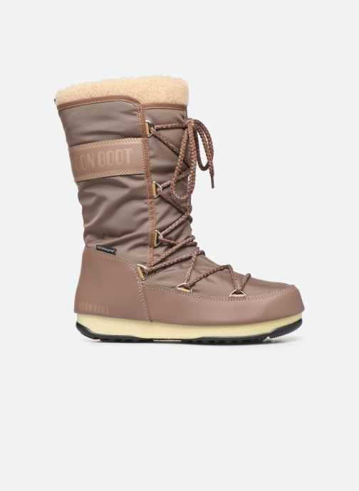 Sport shoes Moon Boot Moon Boot Monaco Wool WP Brown back view