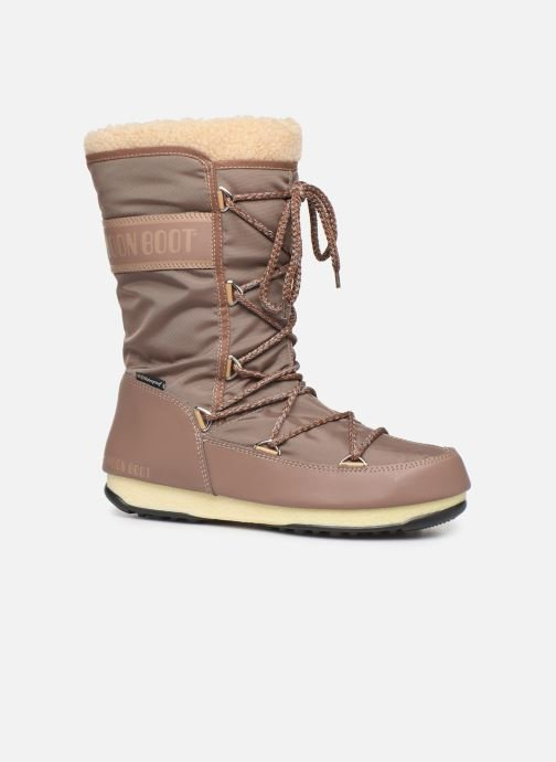Sport shoes Moon Boot Moon Boot Monaco Wool WP Brown detailed view/ Pair view