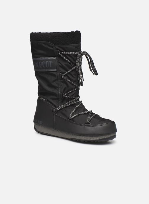 Chaussures de sport Moon Boot Moon Boot Monaco Wool WP Noir vue détail/paire