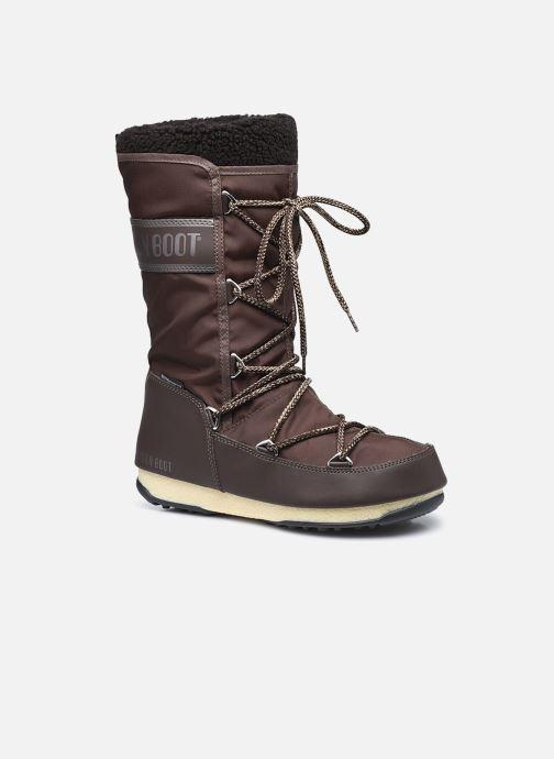 Chaussures de sport Moon Boot Moon Boot Monaco Wool WP Marron vue détail/paire