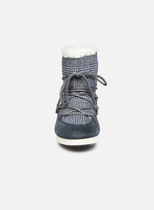 Scarpe sportive Moon Boot Moon Boot Far Side Low Fur/Tartan Azzurro modello indossato