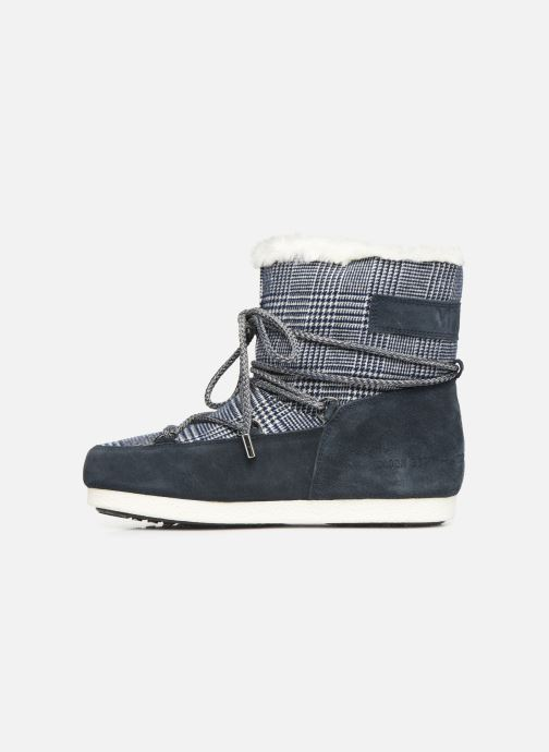 Sport shoes Moon Boot Moon Boot Far Side Low Fur/Tartan Blue front view