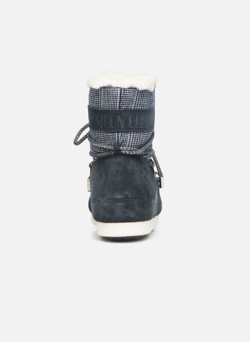 Sport shoes Moon Boot Moon Boot Far Side Low Fur/Tartan Blue view from the right