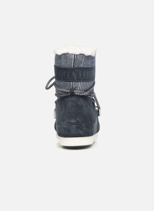 Scarpe sportive Moon Boot Moon Boot Far Side Low Fur/Tartan Azzurro immagine destra