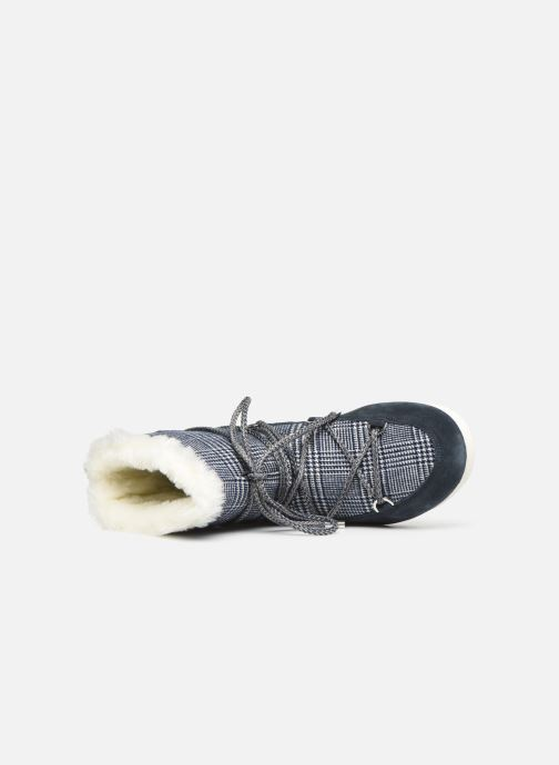 Sport shoes Moon Boot Moon Boot Far Side Low Fur/Tartan Blue view from the left