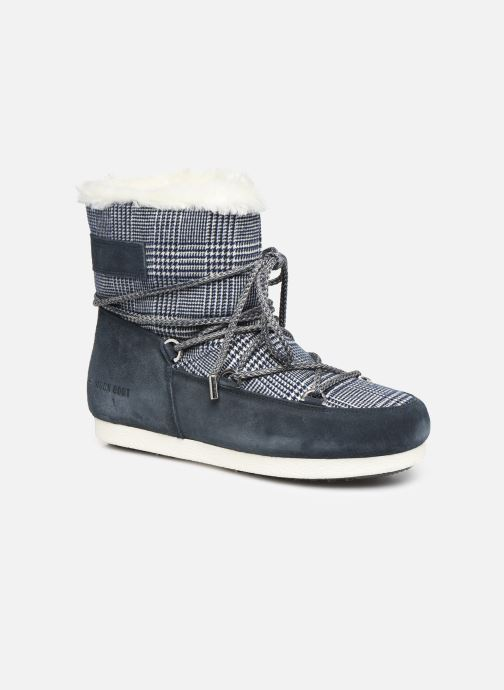 Sport shoes Moon Boot Moon Boot Far Side Low Fur/Tartan Blue detailed view/ Pair view