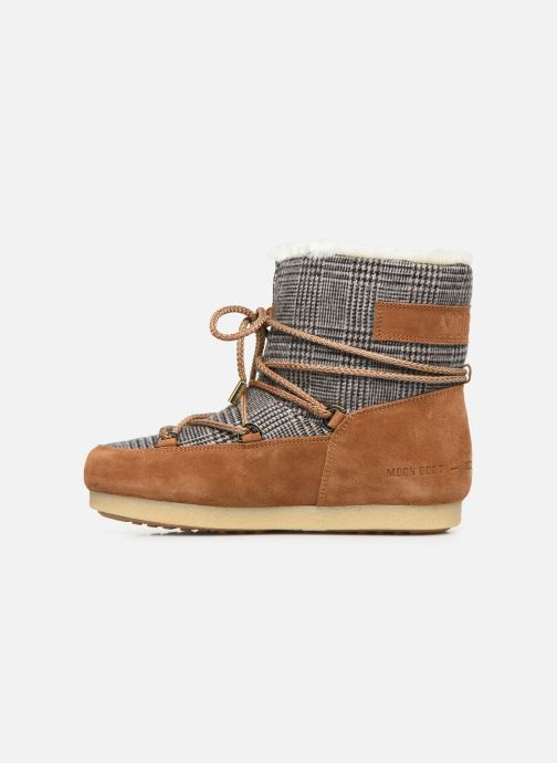 Sport shoes Moon Boot Moon Boot Far Side Low Fur/Tartan Brown front view