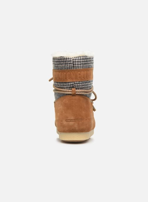Sport shoes Moon Boot Moon Boot Far Side Low Fur/Tartan Brown view from the right