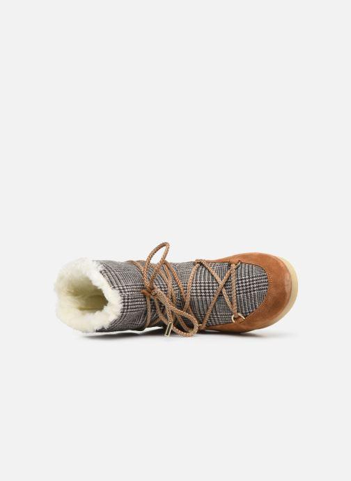 Sportschoenen Moon Boot Moon Boot Far Side Low Fur/Tartan Bruin links
