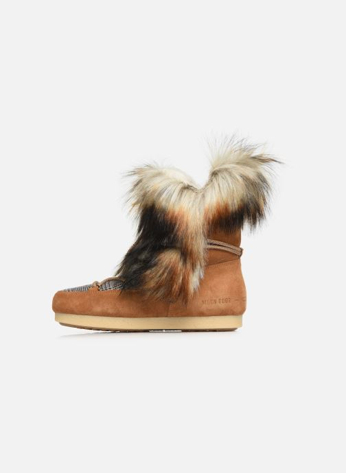 Sport shoes Moon Boot Moon Boot Far Side High Faux Fox Fur Brown front view