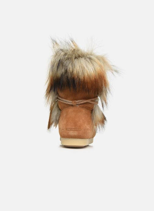 Sport shoes Moon Boot Moon Boot Far Side High Faux Fox Fur Brown view from the right