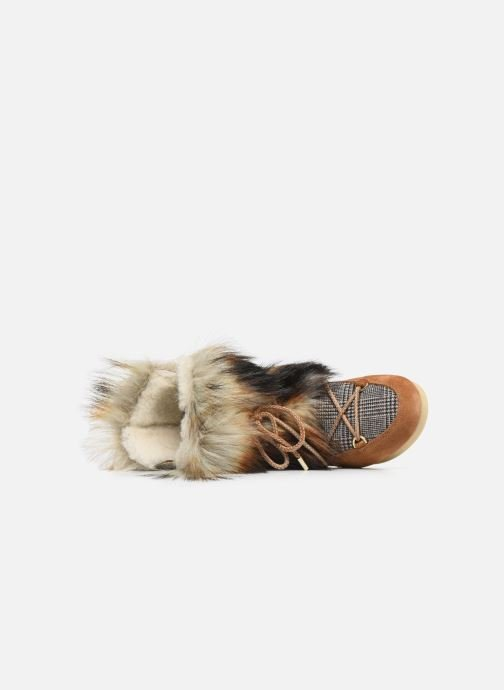 Sport shoes Moon Boot Moon Boot Far Side High Faux Fox Fur Brown view from the left
