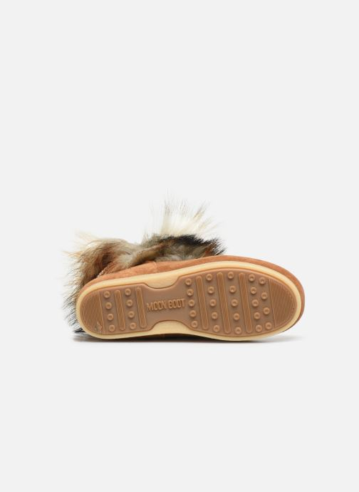 Sport shoes Moon Boot Moon Boot Far Side High Faux Fox Fur Brown view from above