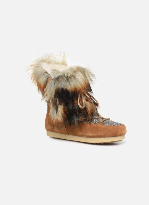 Sport shoes Moon Boot Moon Boot Far Side High Faux Fox Fur Brown detailed view/ Pair view