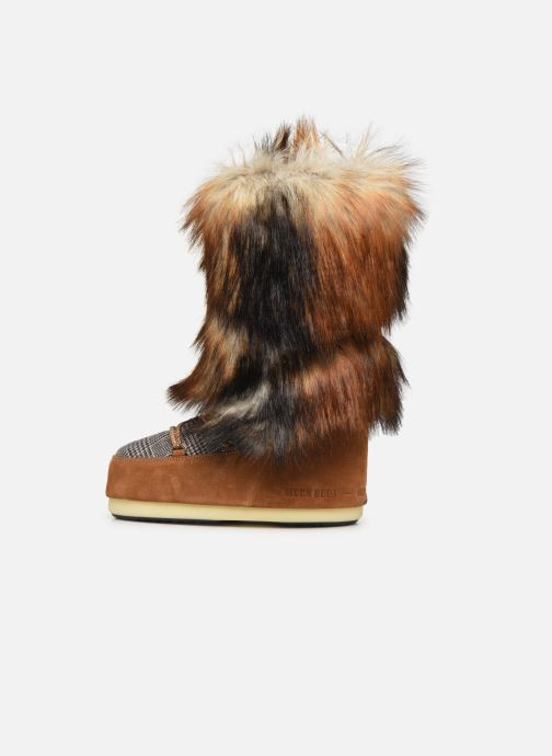 Sport shoes Moon Boot Moont Boot Classic Faux Fox/Tartan Brown front view