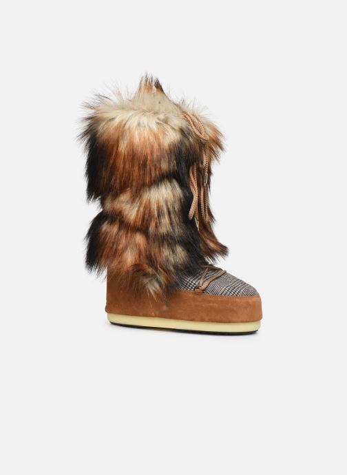 Sport shoes Moon Boot Moont Boot Classic Faux Fox/Tartan Brown detailed view/ Pair view