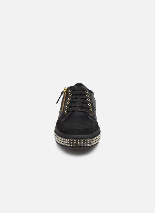 Baskets Geox D LEELU' Noir vue portées chaussures