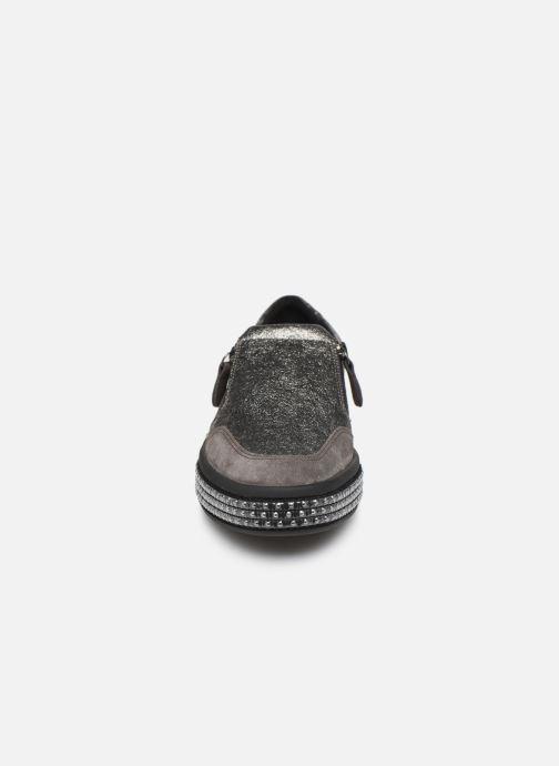 Baskets Geox D LEELU' Argent vue portées chaussures