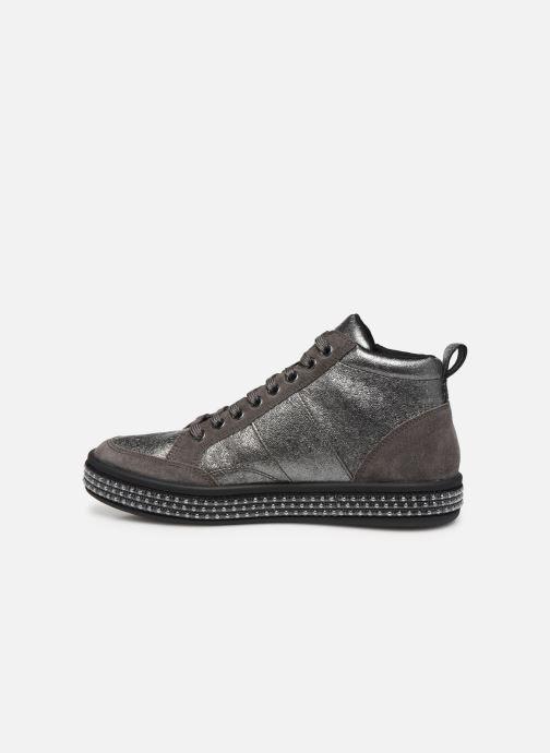 Sneakers Geox D LEELU' 2 Sølv se forfra