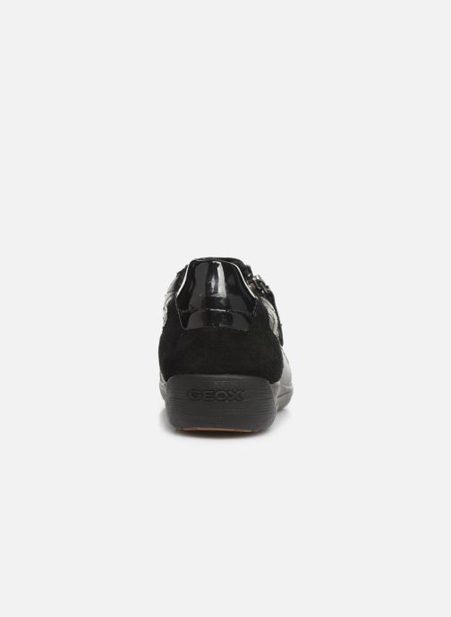 Trainers Geox D MYRIA Black view from the right