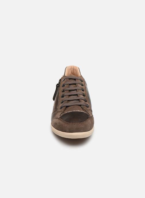 Baskets Geox D MYRIA Marron vue portées chaussures