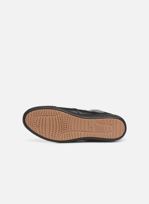 Baskets Geox D MYRIA  2 Noir vue haut