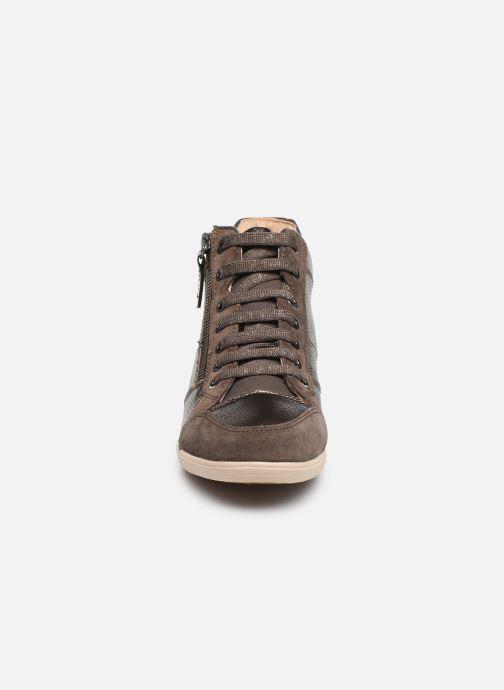 Baskets Geox D MYRIA  2 Marron vue portées chaussures