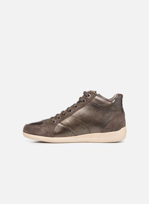 Sneakers Geox D MYRIA  2 Bruin voorkant