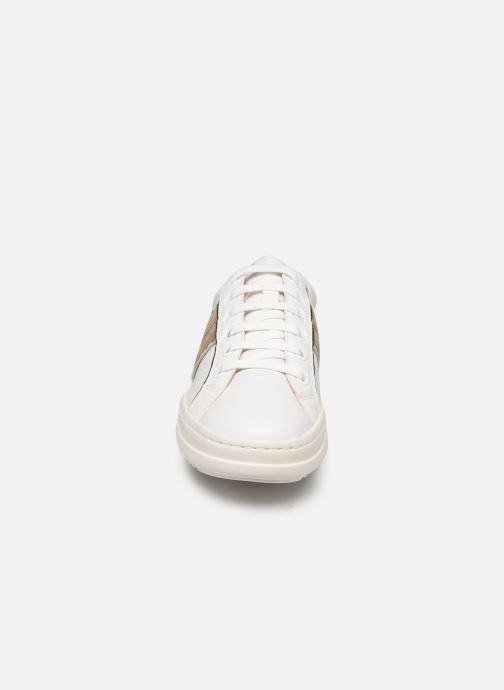 Baskets Geox D PONTOISE Blanc vue portées chaussures