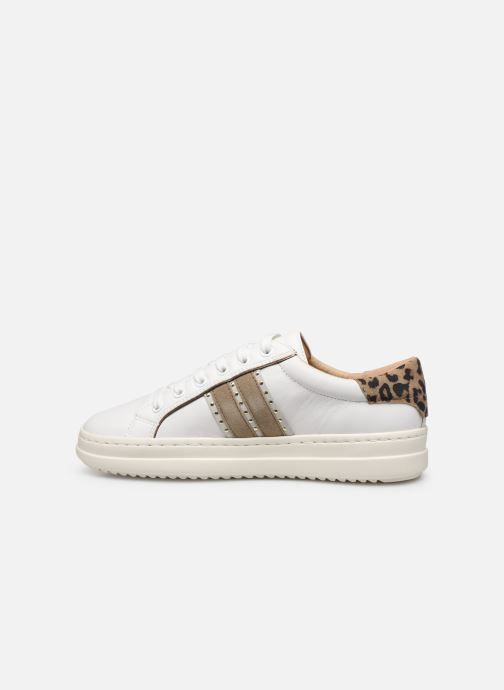 Sneakers Geox D PONTOISE Bianco immagine frontale