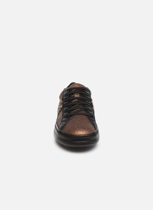 Baskets Geox D PONTOISE Or et bronze vue portées chaussures