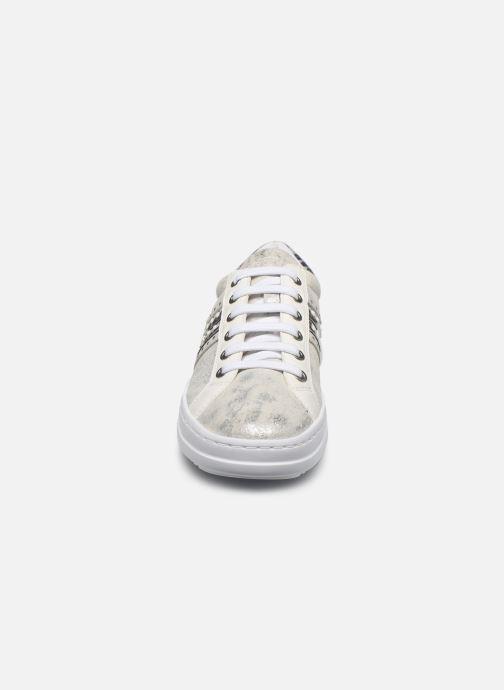 Baskets Geox D PONTOISE Argent vue portées chaussures