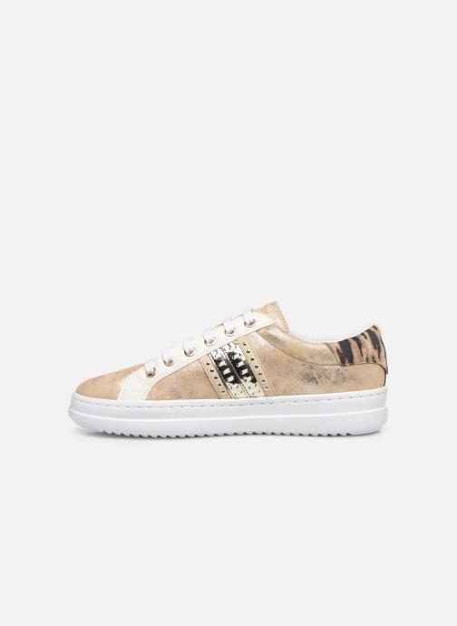 Sneakers Geox D PONTOISE Oro e bronzo immagine frontale