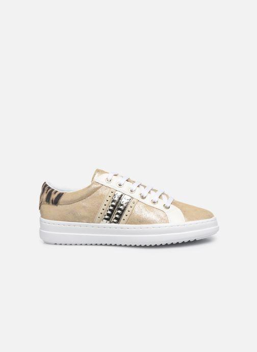 Sneakers Geox D PONTOISE Oro e bronzo immagine posteriore