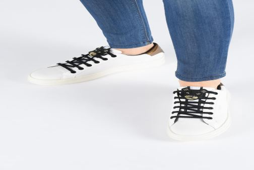 Sneakers Geox D PONTOISE 2 Bianco immagine dal basso