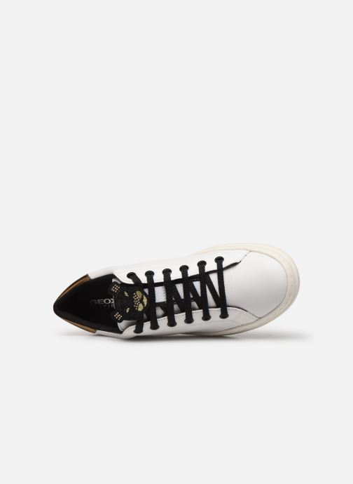 Sneakers Geox D PONTOISE 2 Bianco immagine sinistra