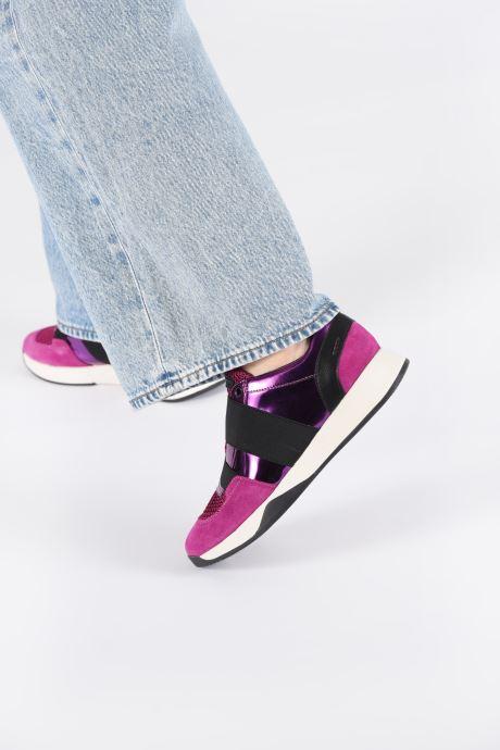Sneaker Geox D SUZZIE rosa ansicht von unten / tasche getragen