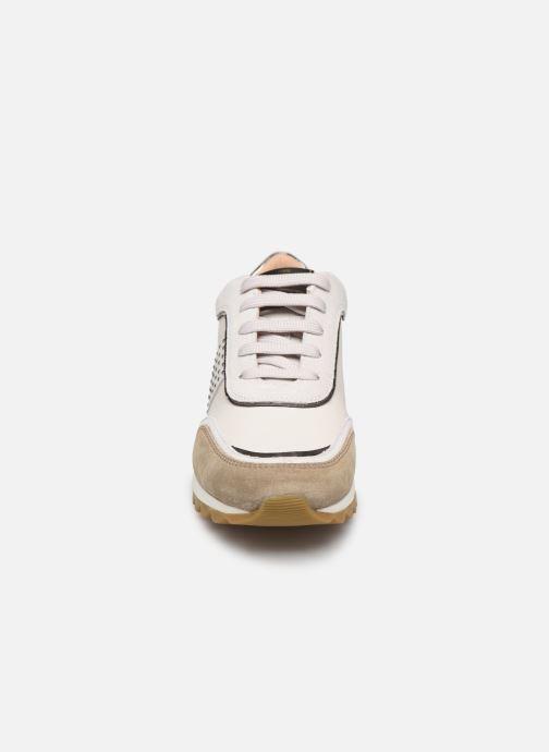 Sneaker Geox D TABELYA beige schuhe getragen