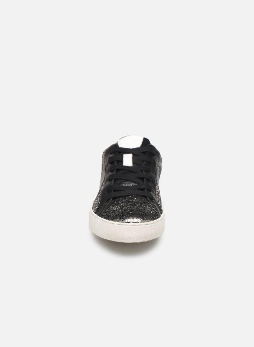 Baskets Geox D WARLEY Argent vue portées chaussures