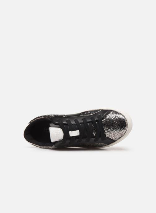 Sneaker Geox D WARLEY silber ansicht von links