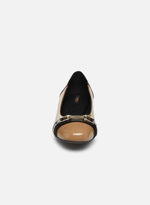 Ballerines Geox D WISTREY Marron vue portées chaussures