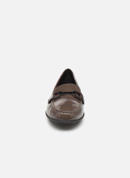 Mocassins Geox D ELIDIA Marron vue portées chaussures
