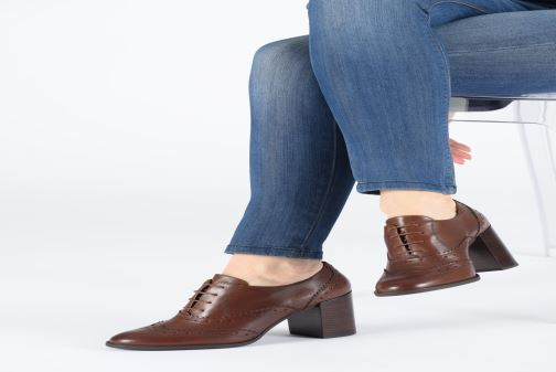 Lace-up shoes Geox D JACY HIGH Brown view from underneath / model view
